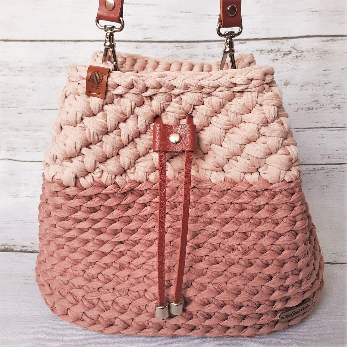 Passo a passo bolsa saco de crochê com fio de malha